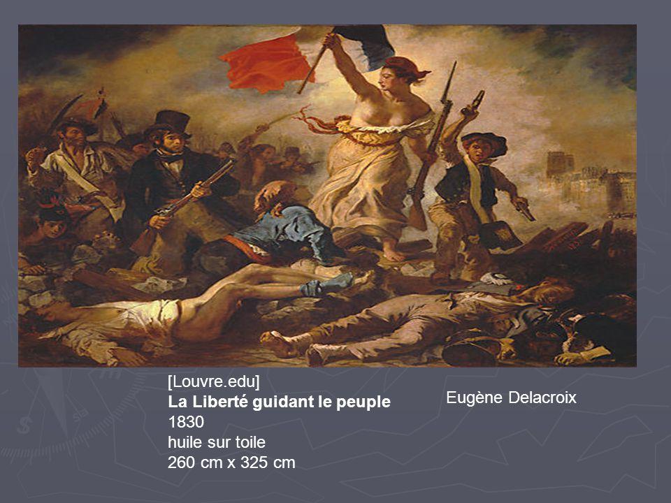 [Louvre.edu] La Liberté guidant le peuple Eugène Delacroix 1830